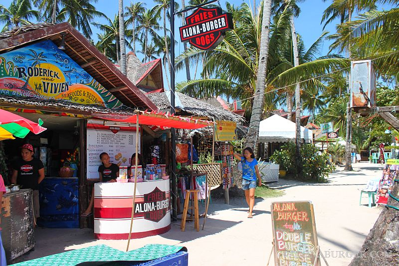 Alona Burger Best Little Restaurant in Alona Beach Bohol