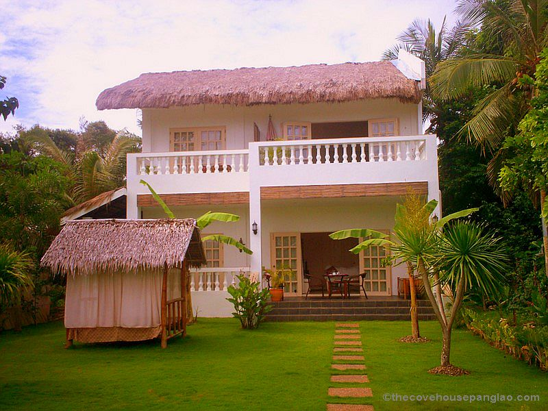 Panglao island bohol resort the cove house bed and for Up and down house design in the philippines