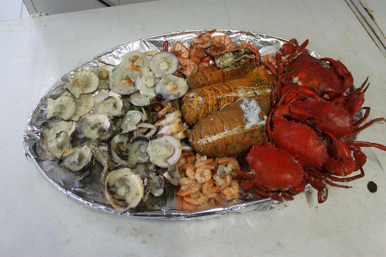 Linaw Beach Resort Seafood Platter